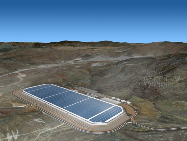 Artist rendering of Tesla's Gigafactory. The much-touted Nevada plant is under construction. PHOTO: Tesla