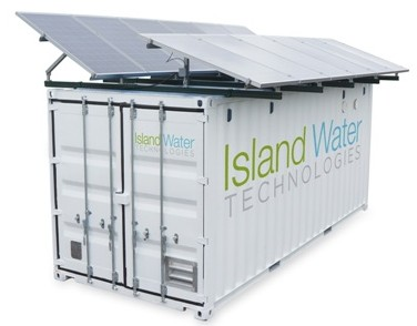 Island Water Technologies' solar-powered wastewater treatment system. PHOTO IWT