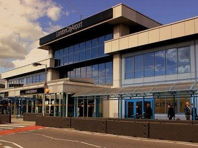 The main terminal at the London City Airport PHOTO: Calflier001, via Wikimedia Commons