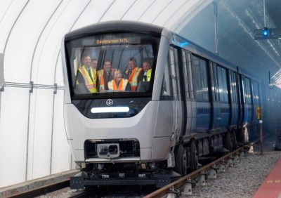 Bombardier's new Azur subway trains during early testing. PHOTO: Bombardier