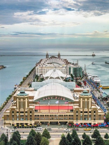 Chicago's Navy Pier. One of the high-profile VOA has designed. PHOTO: Banpei, via Wikimedia Commons