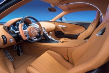 The interior of Bugatti's latest luxury speedster. PHOTO: Bugatti