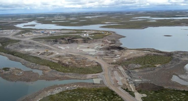 The Gahcho Kue Mine site in Northwest Territories. 300 kilometres northeast of Yellowknife, the project is the world's largest diamond mine currently under contraction. PHOTO: Mountain Province Diamonds