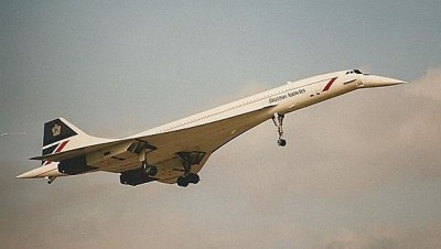 A British Airways Concorde, its iconic droop-nose enabled for landing. PHOTO: Ian Gratton, via Wikimedia Commons