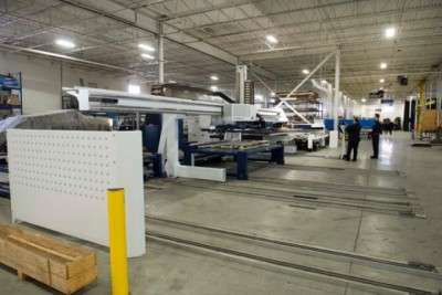 The plant floor at ECM. The company's facility covers 80,000 square-feet and employs more than 40 people. The new