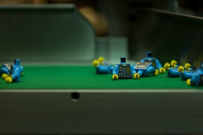 Lego's minifigures in production at a facility in Kladno, Czech Republic. PHOTO: The Lego Group