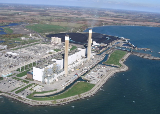 Ontario Power Generation's Nanticoke Generating Station in southern Ontario. The station stopped producing energy in 2013 as part of the province's coal phase-out. PHOTO: OPG