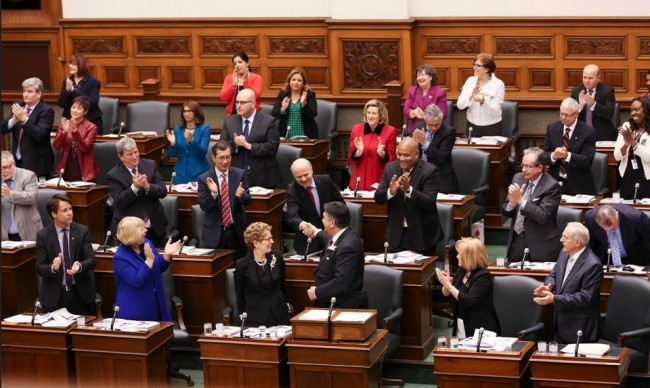 Ontario legislature during the 2016 budget introduction. PHOTO: Premier of Ontario/Flickr
