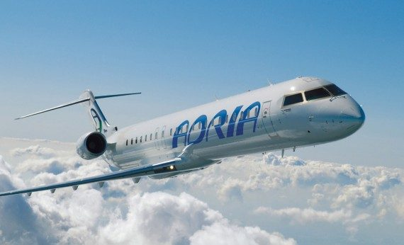 The deal for up to 10 Bombardier CRJ900s is valued at up to US$467 million. PHOTO: Bombadier