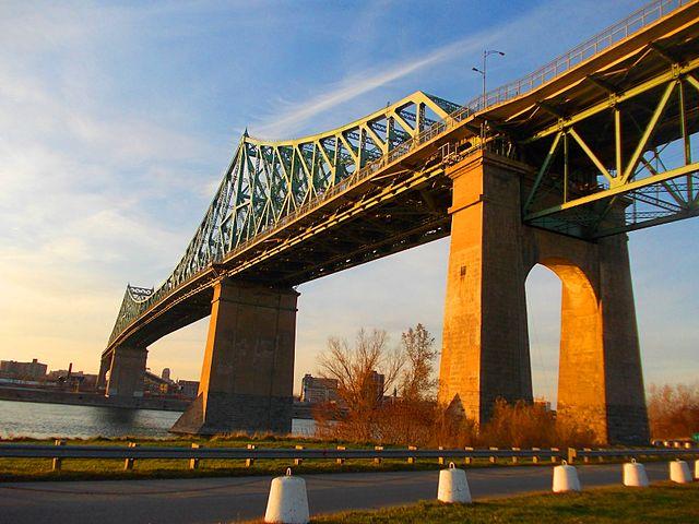 The Jacques Cartier Bridge in Montreal. The  steel truss cantilever bridge was built in 1930. PHOTO: Andrijko Z., via Wikimedia Commons