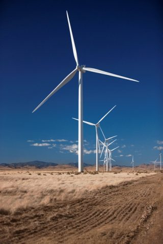 Turbines at Vestas' Macho Springs, New Mexico wind project.  PHOTO: Lars Schmidt/Vestas