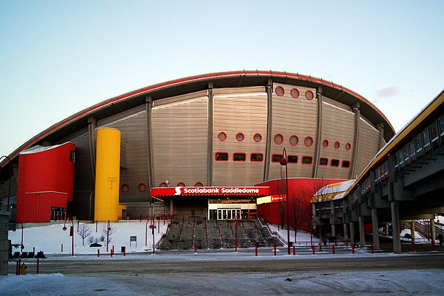 The Scotiabank Saddledome will become the NHL's second-oldest stadium next year. PHOTO: Sergei Scurfield, via Wikimedia Commons