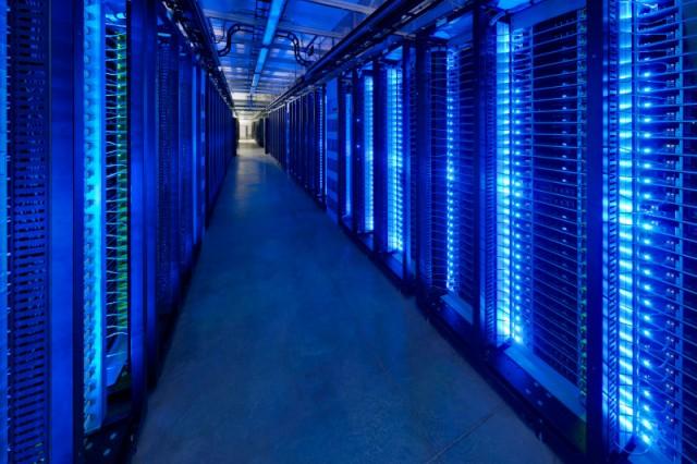 Interior of a Facebook data centre in Prineville, Oregon. PHOTO: Facebook