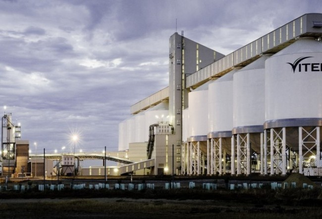 A Glencore-owned grain export terminal in Australia. PHOTO: Glencore