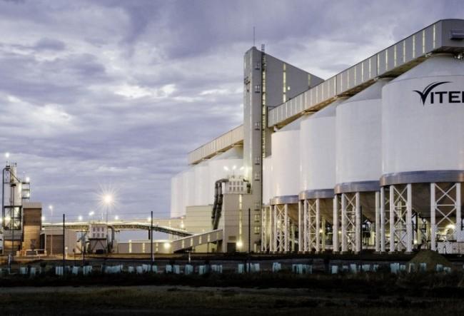 A Glencore-owned grain export terminal in Australia. PHOTO: Glencore