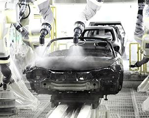 Automakers like Mazda are moving toward water-based paints in an effort to reduce VOC emissions. PHOTO: Mazda Motor Corp.