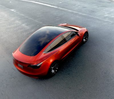 Tesla introduced its hotly-anticipated Model 3 at the end of March. The automaker has racked up more than a quarter-million pre-orders since, greatly exceeding expectations. PHOTO: Alexis Georgeson/Tesla