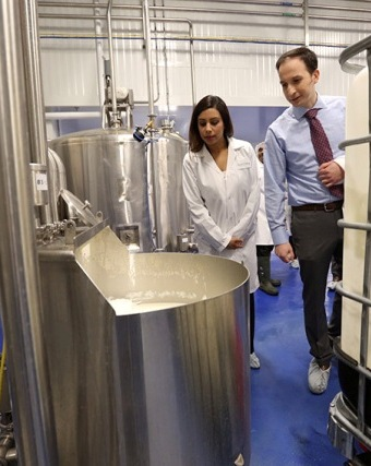 MP Ruby Sahota tours Quality Cheese Inc.'s new facility in Orangeville, Ont. PHOTO: Tim Fraser/FedDev Ontario