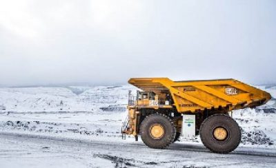 Canadian mining firms have been working on a variety of emissions-reducing initiatives in recent years, including an LNG-fulled truck pilot project launched by Teck last year. PHOTO: Teck Resources Ltd.