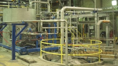 Interior section of West Fraser's Hinton Pulp Lignin Recovery Plant. PHOTO: Alberta Innovates