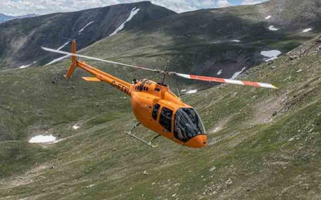 The helicopter maker's new 505 Jet Ranger X, which premiered at the 2013 Paris Air Show. PHOTO: Bell Helicopter