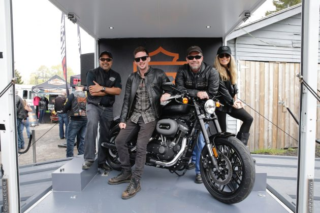 The Roadster's mid-mount foot controls center the rider's weight over its  3.3-gallon Sportster fuel tank. PHOTO: CNW Group/Harley-Davidson Canada