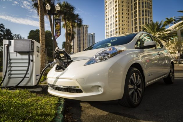 One of the first major automakers to bring an electric vehicle to the mass market, Nissan's Leaf premiered in 2010. PHOTO: Nissan