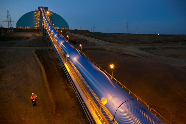 The Oyu Tolgoi gold and copper mine in Mongolia has been delayed for years due to political tension. PHOTO: Rio Tinto