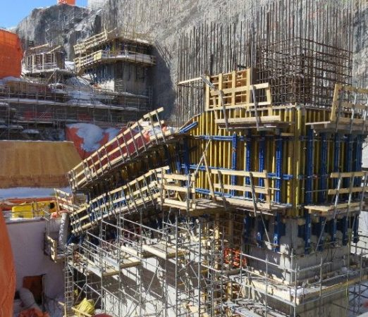 Construction of the powerhouse at the Muskrat Falls megaproject in Labrador earlier this year. PHOTO: Nalcor Energy