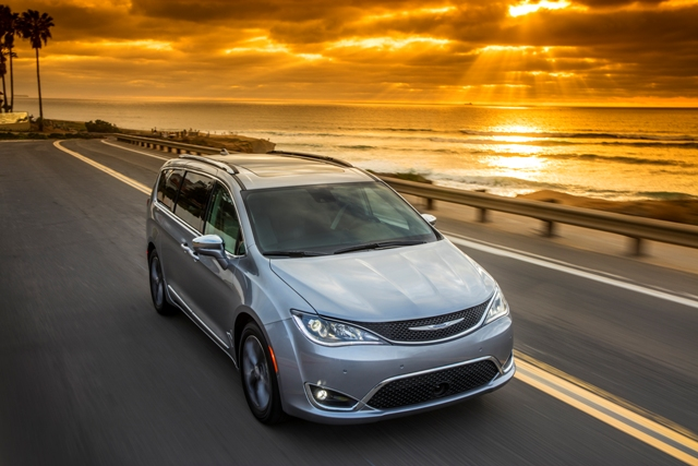 The redesigned 2017 Chrysler Pacifica minivan, which premiered at the Canadian Auto Show Feb. 12, will be rigged up with self-driving technology and put to work in Google's autonomous fleet. PHOTO: FCA