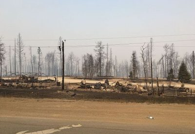 The wildfires left a trail of destruction as they tore through Fort McMurray, leaving nearly 2,500 buildings destroyed. PHOTO: Jason Woodhead, via Flickr