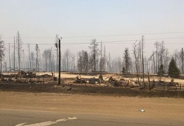 The wildfires left a trail of destruction as they tore through Fort McMurray last month, leaving some 2,400 buildings damaged or destroyed. PHOTO: jasonwoodhead23, via Flickr