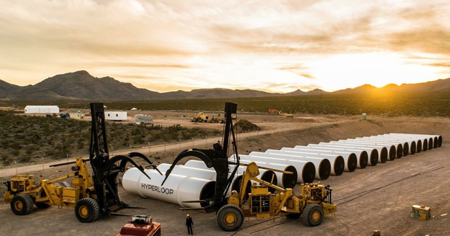 Re-branded as Hyperloop one to differentiate itself from rival, the company performed a high-speed test at its test site at the Apex Industrial Park north of Las Vegas. PHOTO: Hyperloop One