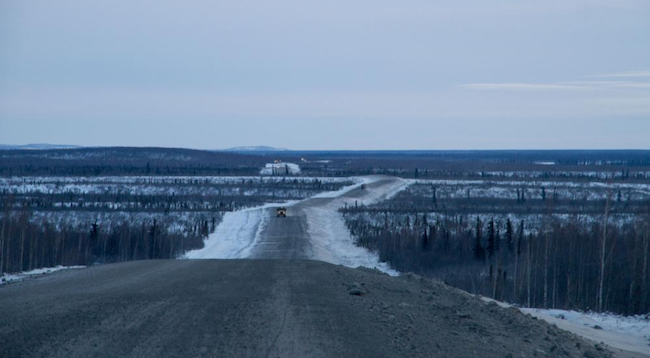 When complete, the road will 120-kilometre all-weather highway will provide a land connection to the northern town of Tuktoyatuk. PHOTO: Government of Northwest Territories