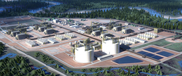 A planned pipeline would link B.C.'s natural gas fields with a proposed LNG export terminal in Kitimat, B.C. PHOTO: LNG Canada