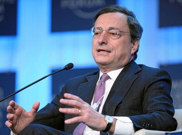 Mario Draghi, president of  European Central Bank. PHOTO: World Economic Forum/ Monika Flueckiger