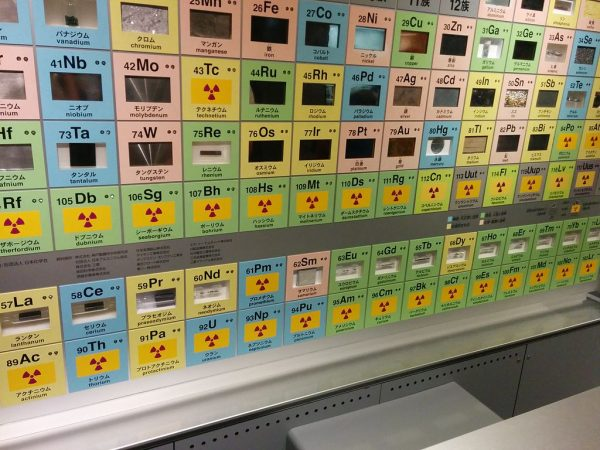 A periodic table, National Museum of Nature and Science in Tokyo. PHOTO: x768 CC BY 2.0