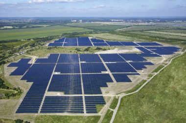 Canadian solar manufactures solar cells for a range of solar project worldwide, including the  Senftenberg Solarpark in Germany. PHOTO: Phoenix Solar AG