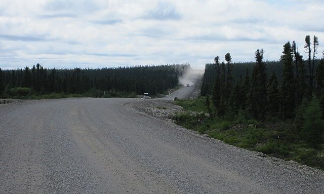 The government of Newfoundland and Labrador has been slowly paving the isolated highway north of Quebec.PHOTO: Guyvail, via Wikimedia Commons