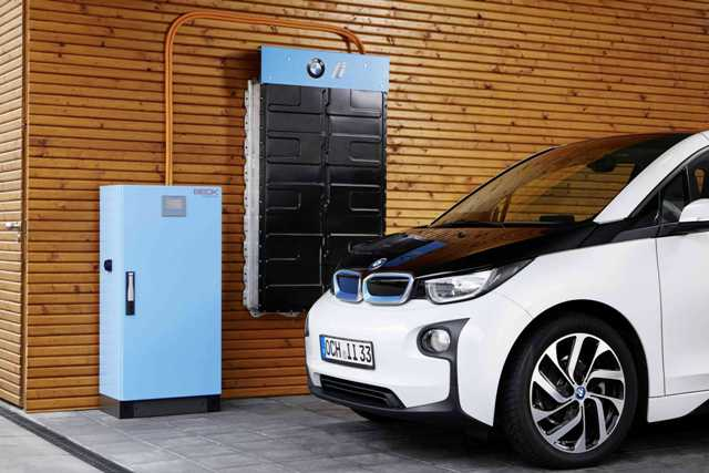 The energy storage unit will give used batteries from BMW i3s a second life. PHOTO: BMW