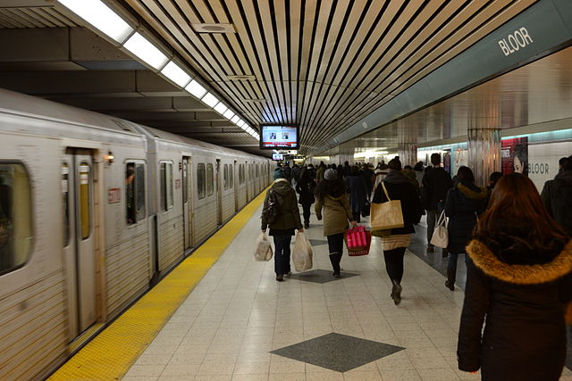 Toronto's Bloor-Yonge Station is notoriously crowded at rush hour. Planners say the DRL would ease congestion at the station and along the Yonge Steet line