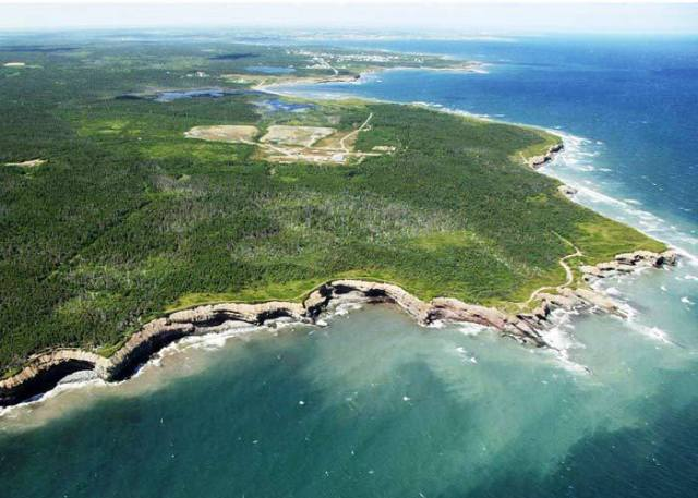 The coastal site of the Donkin coal mine in Nova Scotia. PHOTO: Morien Resources Corp