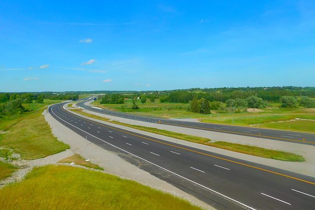 A stretch of Ontario's new Highway 407 East will open from  Brock Road in Pickering to Harmony Road in Oshawa June 20. PHOTO: Adam Moss, via Flickr