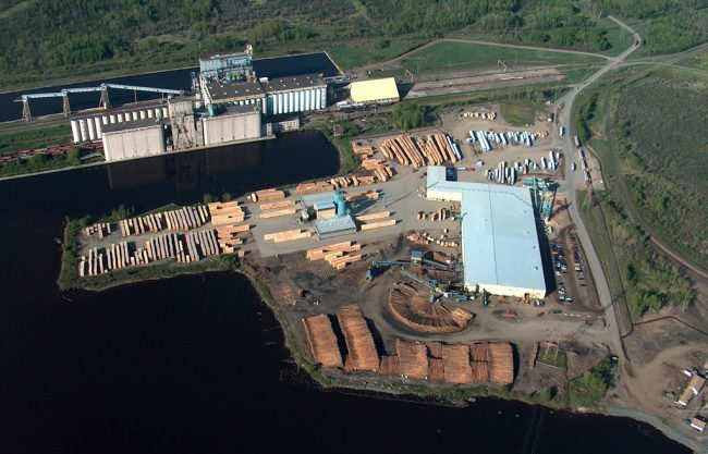 Resolute Forest Products' sawmill outside Thunder Bay, Ont.