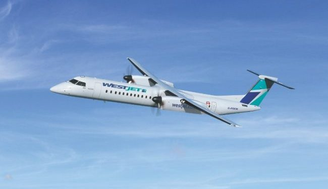 With the conversion of the order option, WestJet expects to operate 45 Q400s by 2018. PHOTO: Bombarider