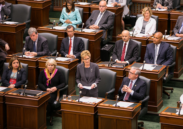 Ontario Premier Kathleen Wynne, a persistent advocate for CPP expansion, introduced a made-in-Ontario solution when a CPP deal seemed elusive. PHOTO: Premier of Ontario Photography/Flickr