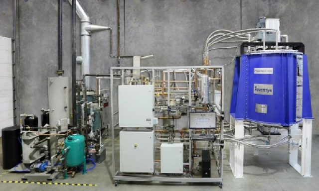 An early demonstration project showcasing the B.C. company's carbon capture technology. PHOTO: Inventys