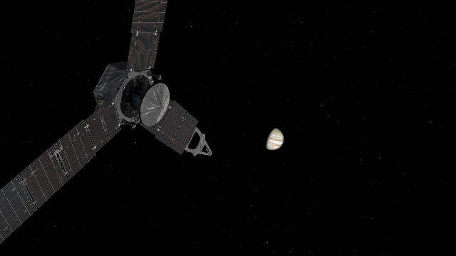 Artist rendering of the solar-powered Juno probe approaching Jupiter. PHOTO: NASA/JPL-Caltech