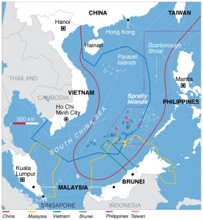 CLICK TO ENLARGE | Map of China's South China Sea claims