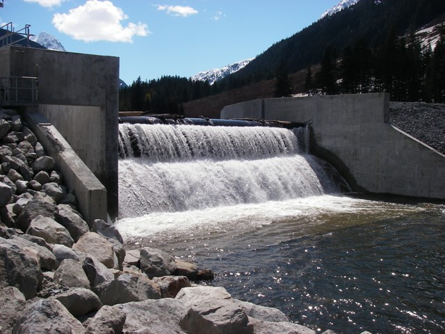 The intake at Alterra's nearby Toba Montrose run-of-river facility in B.C. PHOTO: Alterra